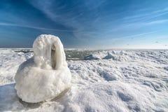 Costa congelata dell'oceano del ghiaccio - inverno polare Immagine Stock Libera da Diritti