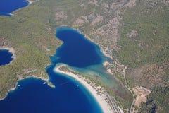Costa costa aérea  Imagen de archivo libre de regalías