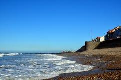 Costa costa Ambleteuse a Audresselles, Francia Fotos de archivo libres de regalías