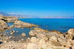 Costa costa Crete, Grecia fotos de archivo