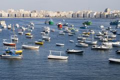 Costa costa de Aleandria - Egipto Imagenes de archivo