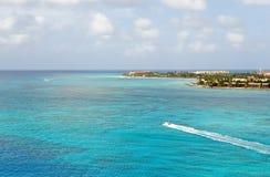 Costa costa de Aruba   Imágenes de archivo libres de regalías