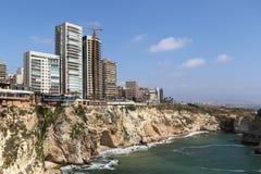 Costa costa de Beirut, Líbano Imágenes de archivo libres de regalías