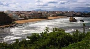 Costa costa de Biarritz Fotografía de archivo libre de regalías