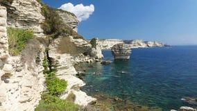 Costa costa de Bonifacio, Córcega, Francia metrajes
