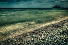 Costa costa de Brighton foto de archivo