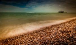 Costa costa de Brighton fotos de archivo