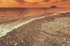 Costa costa de Brighton fotografía de archivo