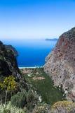 Costa costa de Butterfly Valley, Fethiye, Turquía Imagen de archivo libre de regalías