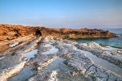 Costa costa de Chipre Imagenes de archivo