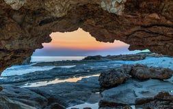 Costa costa de Chipre Fotos de archivo