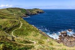 Costa costa de Cornualles foto de archivo