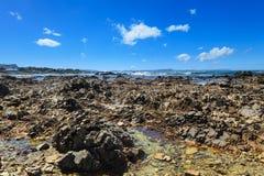 Costa costa de Gansbaai Suráfrica. Imagenes de archivo