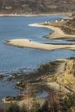 Costa costa de Glenelg en Escocia Fotografía de archivo libre de regalías