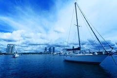 Costa costa de Gold Coast, yate Fotografía de archivo libre de regalías