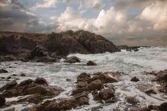 Costa costa de Guernesey Foto de archivo libre de regalías