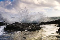 Costa costa de Kona fotos de archivo libres de regalías
