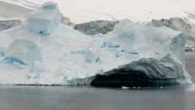 Costa costa de la Antártida almacen de video