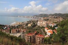 Costa costa de la ciudad de Cullera Imagen de archivo libre de regalías