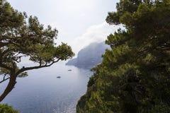 Costa costa de la isla de Capri, Capri, Italia Fotografía de archivo