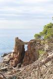 Costa costa de Lloret de Mar imagen de archivo libre de regalías