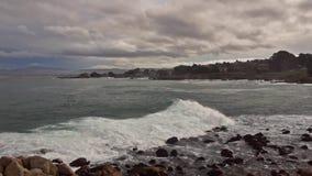 Costa costa de Monterey almacen de metraje de vídeo