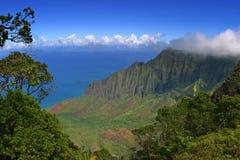 Costa costa de Napali Imagen de archivo libre de regalías