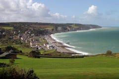 Costa costa de Normandía Imagen de archivo libre de regalías