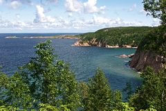 Costa costa de Nueva Escocia Fotografía de archivo libre de regalías