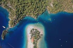 Costa costa de Oludeniz Fotos de archivo libres de regalías