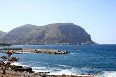 Costa costa de Palermo, Italia fotos de archivo