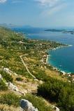 Costa costa de Peljesac Fotografía de archivo