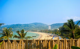 Costa costa de Phuket, playa de Patong imagen de archivo