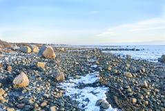 Costa costa de Rocky Buzzards Bay fotografía de archivo libre de regalías
