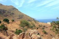 Costa costa de Sicilia, Italia Imagen de archivo libre de regalías