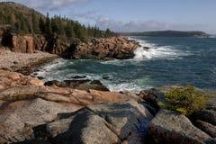 Costa costa del Acadia Fotografía de archivo libre de regalías