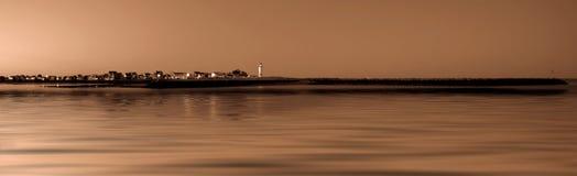 Costa costa del faro Imagenes de archivo