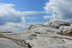 Costa costa del granito Imagen de archivo libre de regalías
