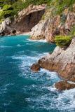 Costa costa del mar adriático Foto de archivo libre de regalías