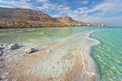 Costa costa del mar muerto foto de archivo libre de regalías