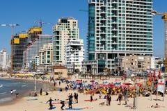 Costa costa del ` s de Tel Aviv foto de archivo