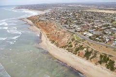 Costa costa del sur de la visión aérea Imagen de archivo libre de regalías