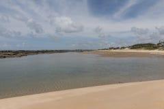 Costa costa del sur - natal, RN, el Brasil Foto de archivo