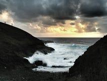 Costa costa dramática Fotos de archivo libres de regalías