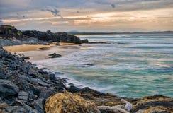 Costa costa dramática Imagen de archivo libre de regalías