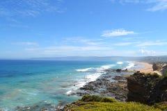 Costa costa de la entrada de Aireys imágenes de archivo libres de regalías