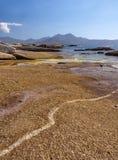 Costa costa en Lumio, Córcega Foto de archivo