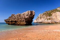 Costa costa en Portugal Fotos de archivo libres de regalías