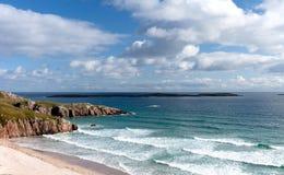 Costa costa escocesa septentrional Imágenes de archivo libres de regalías