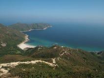 Costa costa grande de la playa de la bahía de la onda de Hong-Kong Fotografía de archivo libre de regalías